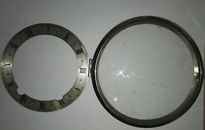 Enfield Clock dial and front bezel complete with glass