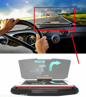 Universal Car Navigation HUD Head Up Projection Display Bracket Holder Phone GPS