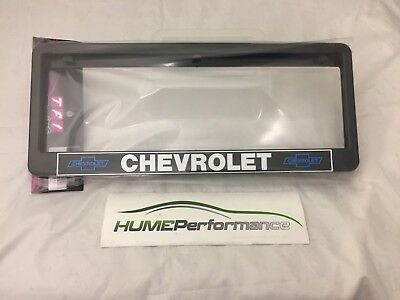 Number Plate Frame Chevrolet (Pair) Large 6 Digit Plate