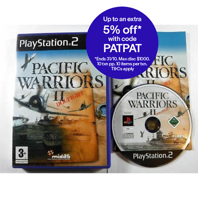 Pacific Warriors II Dogfight MINT DISC PS2 Playstation 2