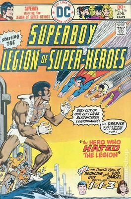 Superboy (1st Series DC) #216 1976 VF Stock Image