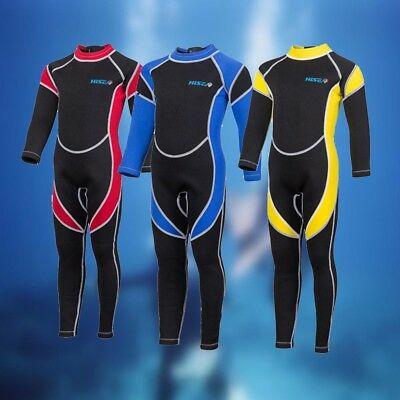 Boys Girls Neoprene Long Sleeve Wetsuits Kids Scuba Diving Suits Surfing Guards