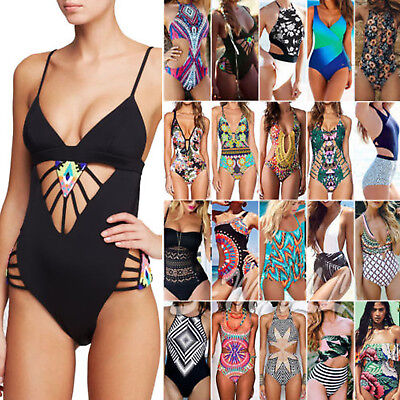 Women's One Piece Swimsuit Monokini Swimwear Push Up Bikini Bathing Suit Bathers