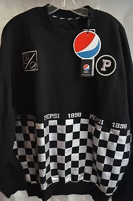 "NEW Pepsi 1898 ""Checkered"" Crewneck Sweatshirt Size Medium (oversized)"
