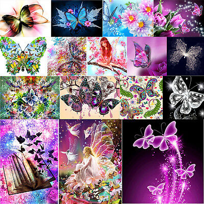 5D DIY Butterfly Series Diamond Painting Embroidery Cross Stitch Handwork Crafts