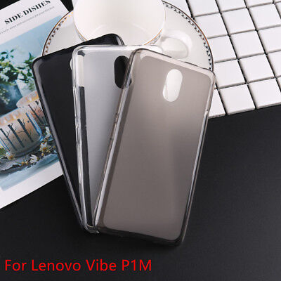 Gel Silicone Matte Pudding TPU Soft Back Cover Phone Case For Lenovo Vibe P1M