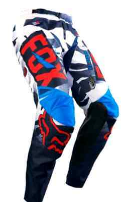 FOX VICIOUS MOTOCROSS PANTS NEW #26 blue /red RRP $139! KIDS YOUTH BMX Dirt bike