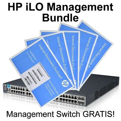 iLO Bundle 5x HP iLO Advanced Pack 512485-B21 inkl. J9472A ProCurve Switch