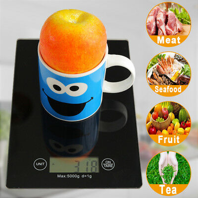5KG/1G Digital Kitchen Weight Scale LCD Electronic Fruit Meat Gram Balance Scale