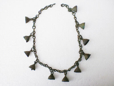 RARE ANCIENT Bronze Female Decoration Bells on Chain Penkovka Culture 6 - 8 AD