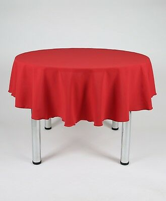Round Tablecloth / Covers Plain Fabric 30 colours  - Machine Washable Ex quality