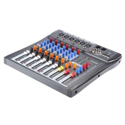 Professional 6 Canali Mic Audio Mixer A 3 Bande EQ USB 48V Phantom Power B8N4