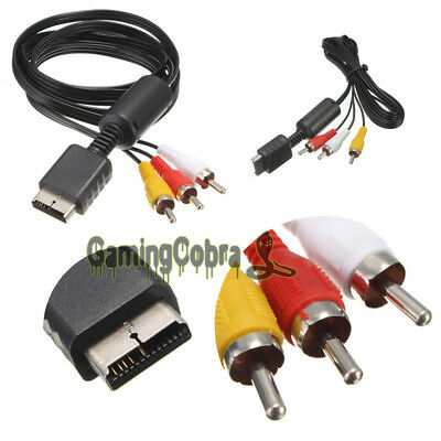3-RCA AV Audio Video Composite Cable Cord For Sony Playstation 2 PS2 PS3 Console