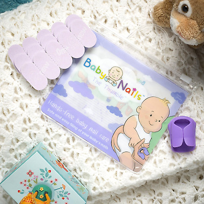 Baby Nails™ Hands-Free Filing Baby Nail Care Set for Babies Usable From Birth