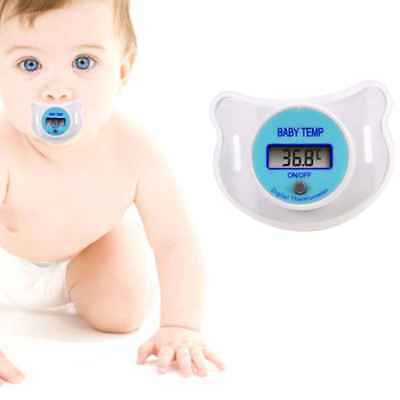 Baby Nipple Thermometer Medical Silicone Pacifier LCD Digital Health Safety Care