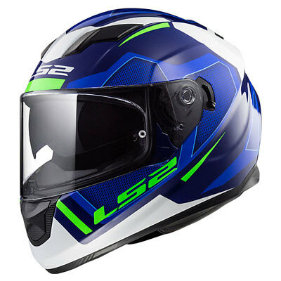 LS2 Stream EVO FF320 Axis Blue / White Motorcycle Full Face Helmet | All Sizes