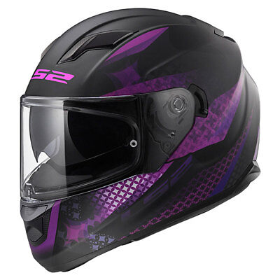 LS2 Stream EVO FF320 Lux Matt Black / Pink Ladies Full Face Helmet | All Sizes