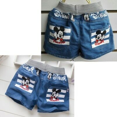 Baby Kids Children Boy Girl Clothes Shorts Jeans Pants Trousers Bottoms 34567 yr