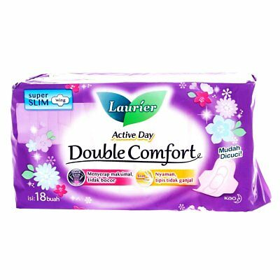 Laurier Active Day Double Comfort Super Slim Wings Pad Sanitary Napkins 18pieces