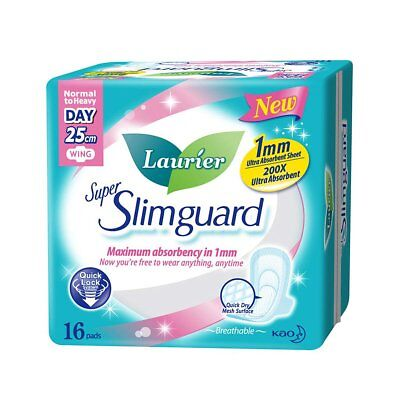Laurier Wings Super Slimguard Normal To Heavy Day 16 Pieces Pad Sanitary Napkins