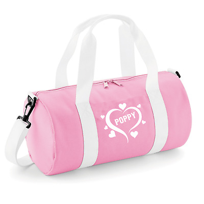PERSONALISED WOMENS GIRLS DANCE BAG GYM KIT HEARTS Back to School
