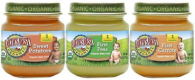 Earth's Best Organic Stage 1 Baby Food My First Veggies 2.5 Ounce, Jars 12 Pack