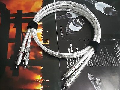 1Pair Oyaide Pure Silver 5N RCA Audio Cable Rhodium occ plug IT091