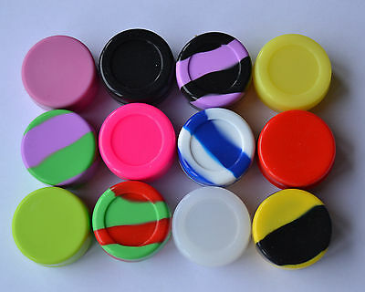 New Random 1PCS Silicone Jar Nonstick Containers 7ml Screw Top Free Shipping