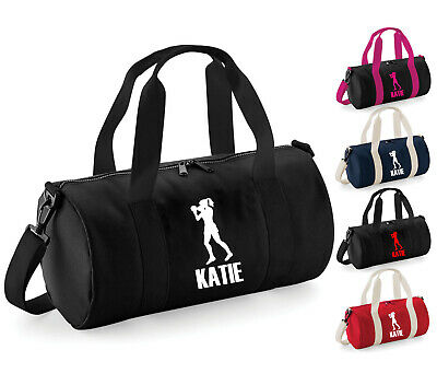 Girls Personalised Boxing Barrel Bag Kids Sports Gym Holdall Childrens Gift