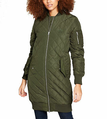 ADIDAS ORIGINALS WOMEN Long Diamond Quilted Bomber Jacket