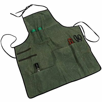 Waxed Tool Aprons Canvas Workshop Heavy-Duty Multi-Purpose Utility Cargo For Men