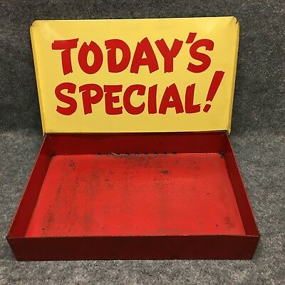 Vintage Painted Tin TODAY'S SPECIAL! Sign Store Tray Advertising Metal Display