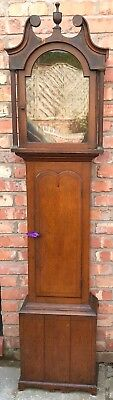 STUNNING Antique Arched Dial Oak Grandfather Longcase Clock Case