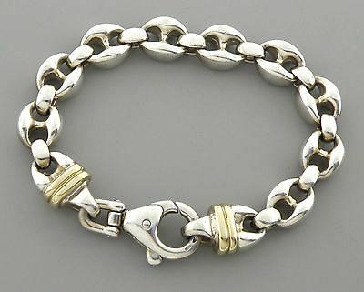 AUTHENTIC TIFFANY & Co. 18K STERLING SILVER ANCHOR LINKS BRACELET HEAVY W/BOX