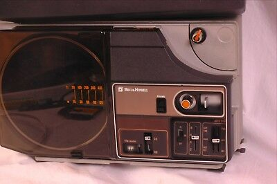 Bell and Howell QX80 dual 8 movie projector as-is with spare bulb vgc