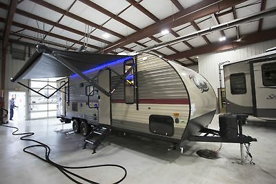 Grey Wolf 23Dbh Travel Trailer Camper Rv Double Bunks Queen Bed Outside Tv Mount