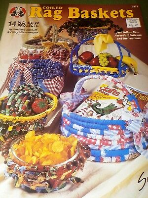 Coiled Rag Baskets 14 No-Sew Projects Suzanne Mcneill Ivy Sunflower,  Casserole