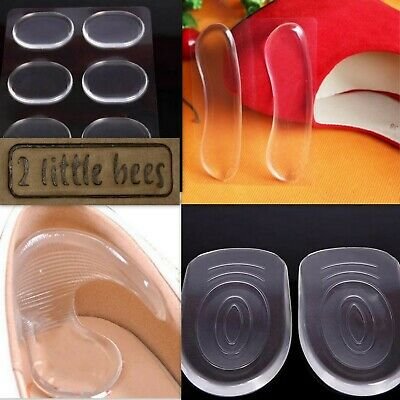 Silicone Gel Heel Pads Insoles Cushion Shields Support High Heels New Shoes  UK