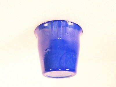 Royal Blue Akro Agate 3-Dart Pot / Hard To Find