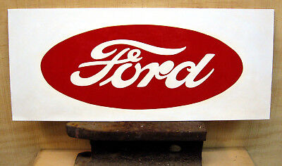 SALE TODAY_FORD TRACTOR - Vintage Style - Custom Hand Painted Sign / Art