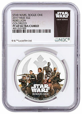 2017 Niue Star Wars: Rogue One - Rebellion 1 oz Silver $2 NGC PF69 UC SKU52968