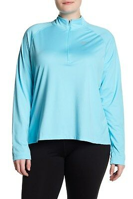 0e3986d4fce Womens NIKE DRY Core Half Zip shirt TOP PLUS Size 3x 3xl xxxl Polarized Blue