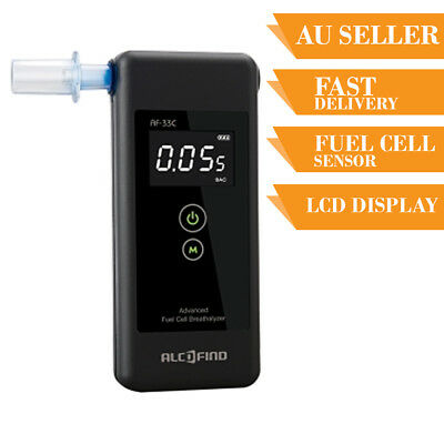 Breathalyser Alcohol Tester Breath Test AlcoFind AF-33C Personal Fuel Cell Senso