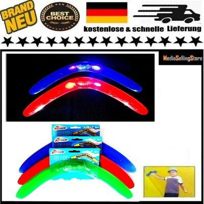 Flash LED Bumerang Frisbee Spaß Licht Light Spiel Kinder Spielzeug Wurf Outdoor
