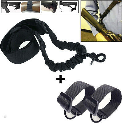 Tactical Heavy Duty ButtStock Sling Adapter with D Ring for Rifle Shotgun