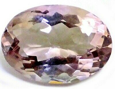 NATURAL OVAL SHAPE PURPLE YELLOW AMETRINE GEMSTONE LOOSE 13.9 x 9.91 mm.