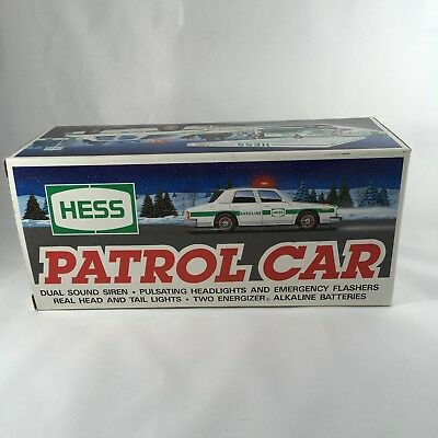 NEW 1993 Hess Patrol Car In Unopened Box Dual Sound Siren Working Lights