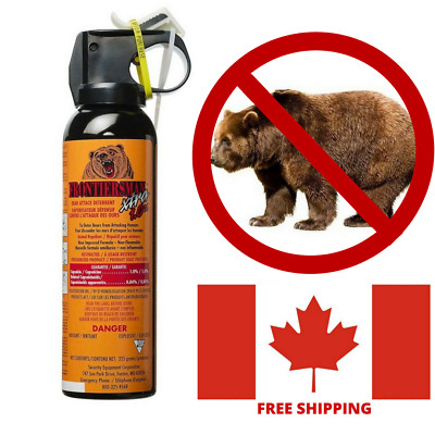 Bear Spray Repellent Maximum Police Strength 9 Meters 30 Ft Range Hiking Camping