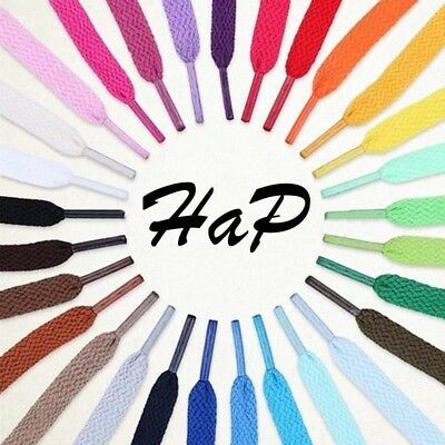 "HaP FLAT Athletic ANY LENGTH 14-72"" Sneaker SHOELACES CUSTOM shoe lace strings"