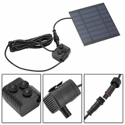Solar Power Fountain Garden Pond Water Feature Pump Kit Panel Submersible MT